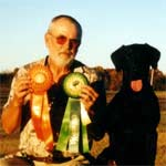 Bill and Linc with his Senior Hunter title ribbons